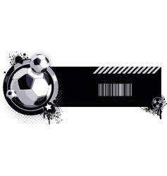 grunge soccer ball label vector image
