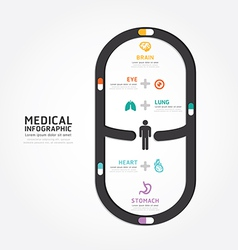 Infographics medical capsule design vector