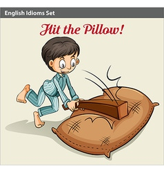 Hitting the pillow vector