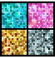4 seamless mirror mosaic vector