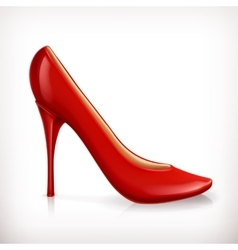 Red high heel women shoe vector image