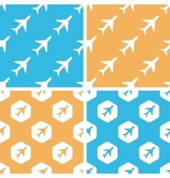 Plane pattern set colored vector