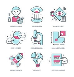 Create brand icons vector