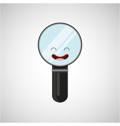 Magnifying glass character design vector