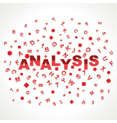 Analysis word with in alphabets vector image vector image