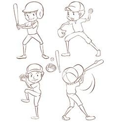 Baseball players vector image