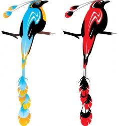 bird of paradise vector image vector image