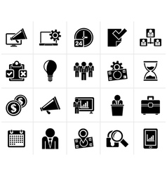 Black business management concept icons vector
