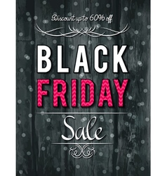 Black friday sale banner on wooden background vector