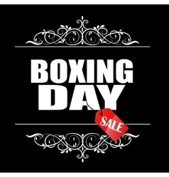 Boxing day sale banner vector