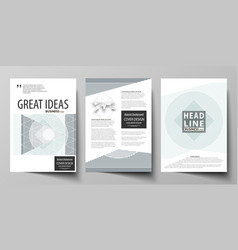 business templates for brochure flyer report vector image vector image