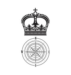 Crown and compass vector