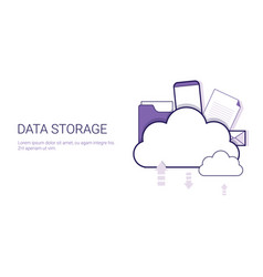 data storage cloud computing business concept vector image vector image