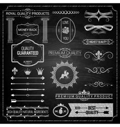 design elements chalk texture vector image