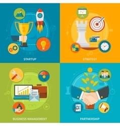 Entrepreneurship 2x2 design concept vector