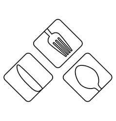 figure cutlery icon image design vector image