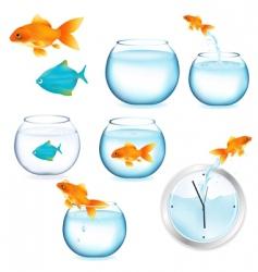 fish and aquariums vector image vector image