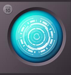 futuristic circle button background vector image