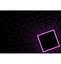 Glowing Neon Square Background vector image