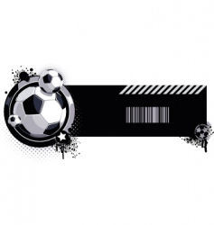 grunge soccer ball label vector image