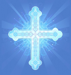 heavenly cross vector image vector image