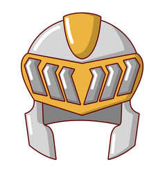 knight helmet medieval icon cartoon style vector image