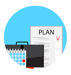 Making monthly business plan for deadline vector
