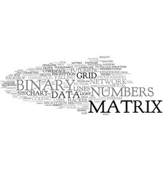 Matrix word cloud concept vector