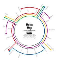 metro map plan map station metro and vector image vector image