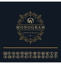 Monogram design elements english letters emblem vector