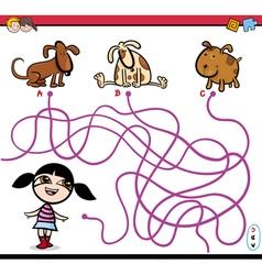 path maze activity cartoon vector image vector image