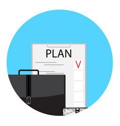 Planning to-do list icon vector