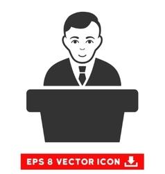 Politician eps icon vector