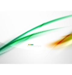 Rainbow color glossy silk elegant wave vector image