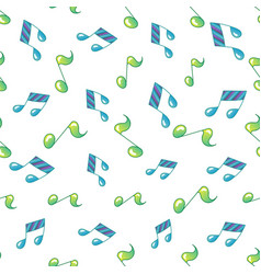 simple music note background seamless pattern vector image vector image