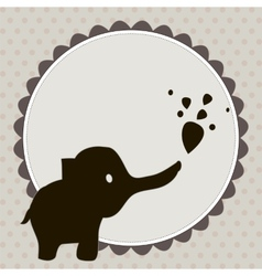 Smart card with an elephant vector image