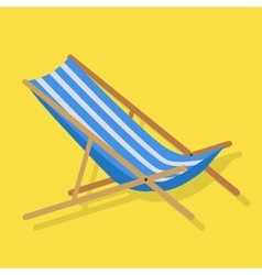 Summer Beach Sunbed Lounger vector image