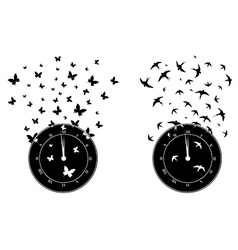 time and freedom vector image vector image