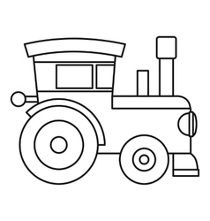 Train locomotive toy icon outline style vector