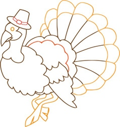Turkey outline vector