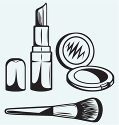 Various cosmetics vector