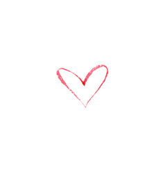 watercolor heart on white background sketch vector image vector image