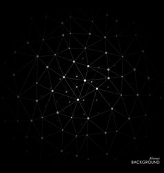 White molecule on black background vector
