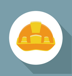 Worker security helmet ilustration icon vector