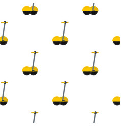 Yellow two wheeled electric vehicle pattern vector