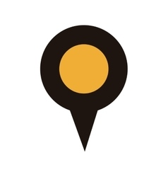 Map pointer with circle interior yellow vector