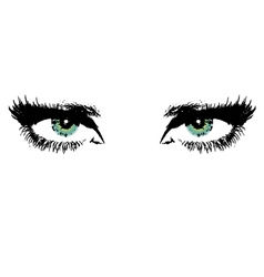 womens eyes vector image