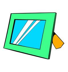 Photo frame icon cartoon vector