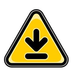 Download sign triangular sticker vector