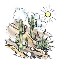 painted america journey landscape sketch vector image